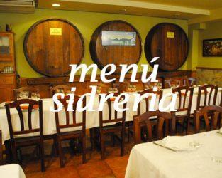 Menú de sidreria - Restaurante Zubiondo